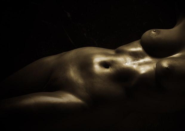 Torsoe Lying Artistic Nude Photo by Photographer Ray Kirby