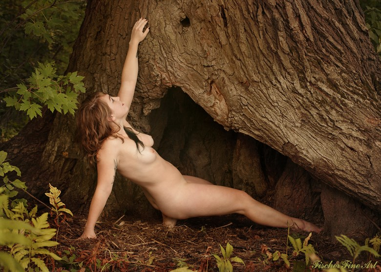 Tree Artistic Nude Photo by Model Lea Bliss