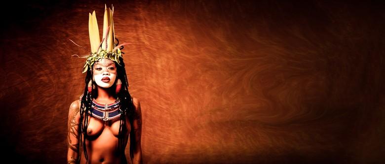 Tribal Art Artistic Nude Artwork by Model Moniasse
