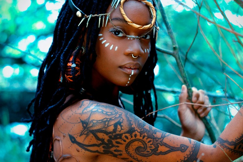 Tribal Tattoos Photo by Model Moniasse