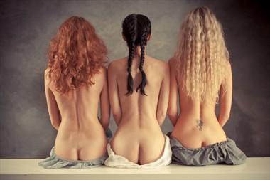 Trio Artistic Nude Photo by Photographer V. Potemkin