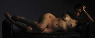 Trisha As a Nude Of the Baroque Sensual Artwork by Artist Van Evan Fuller