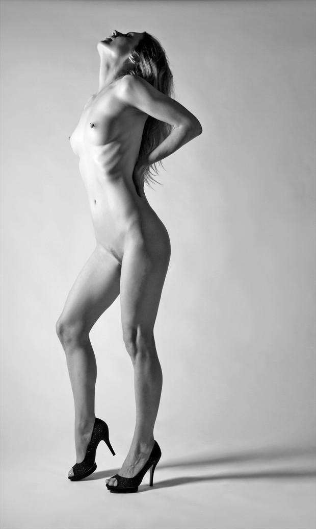 Triumphant Artistic Nude Photo by Photographer Roger Mann