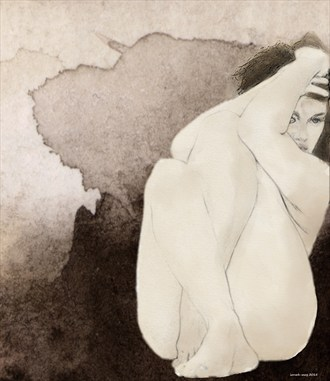 Trying to hide Implied Nude Artwork by Artist ianwh