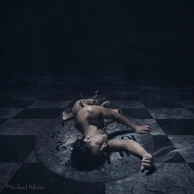 Turbulent Indigo Artistic Nude Photo by Photographer Michael Bilotta