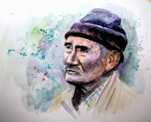 Turkish Man Portrait Artwork by Artist AnthonyNelsonArt