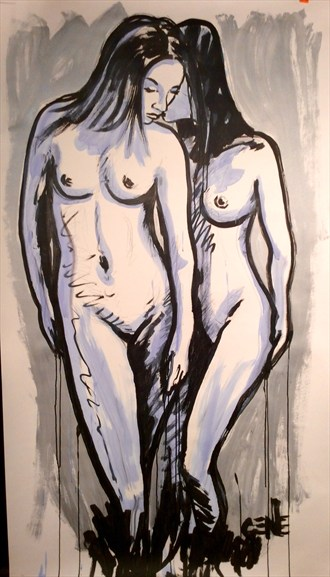 Two Within Artistic Nude Artwork by Artist artistGENE