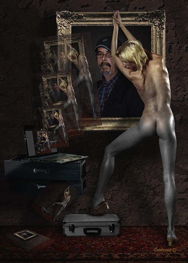 Un Sogno nel Cassetto Artistic Nude Artwork by Artist Contesaia