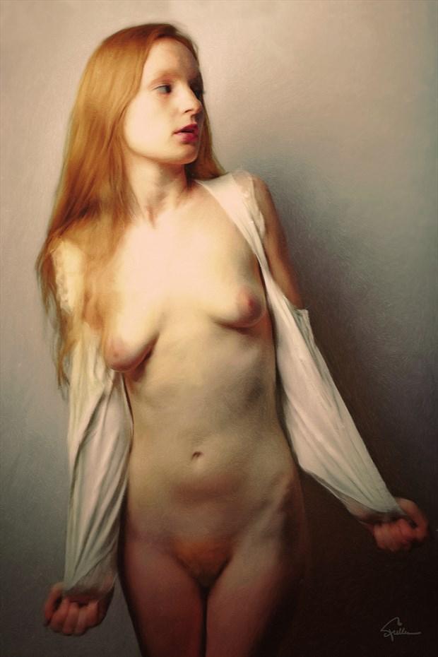 Unbuttoned Chiaroscuro Artwork by Artist Van Evan Fuller