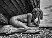Under an Old Fishing Boat Artistic Nude Photo by Photographer RayRapkerg