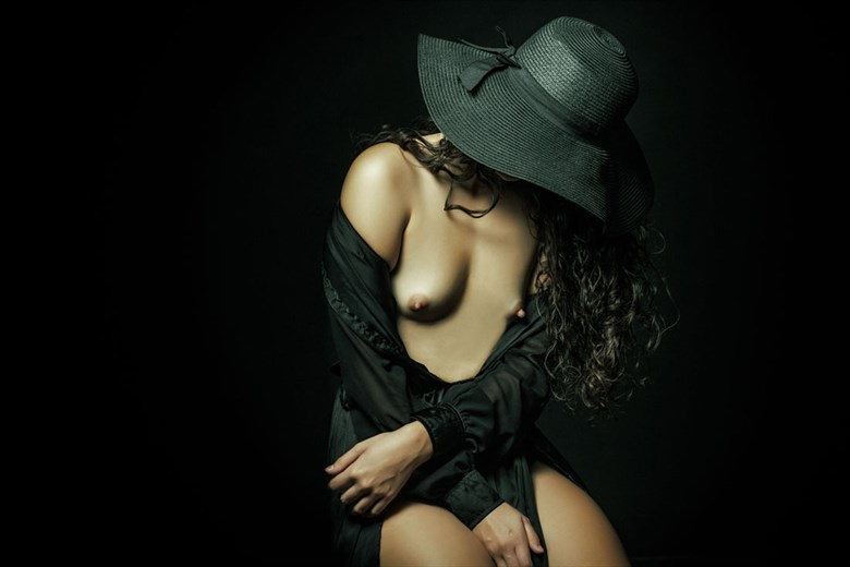 Under the Black Hat Artistic Nude Photo by Photographer Dream Digital Photog