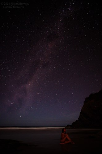 Under the stars, by the sea, there's no other place I'd rather be.  Artistic Nude Photo by Model Jasmine