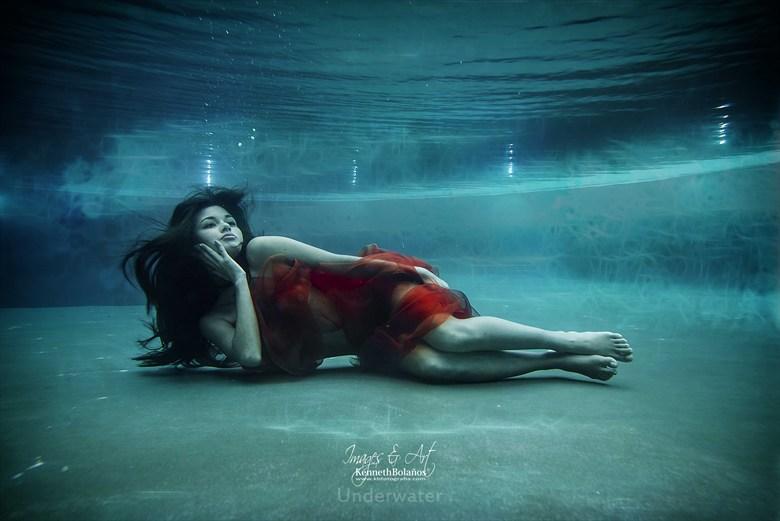 Underwater Angel Bikini Photo by Photographer Kenneth A.Bola%C3%B1os