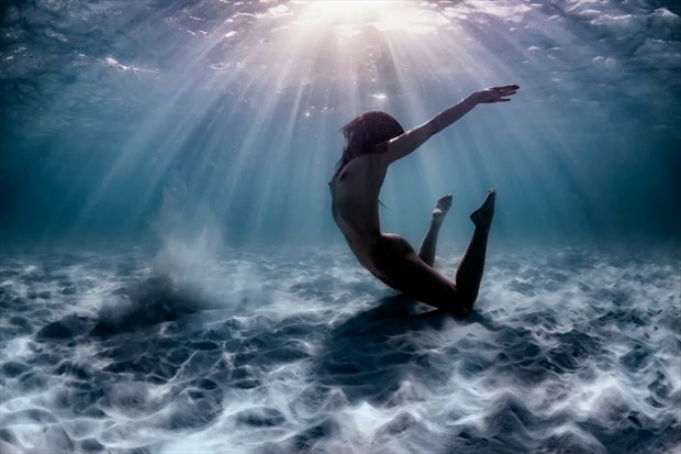 Underwater Celebration Artistic Nude Photo by Model Pure Rebel