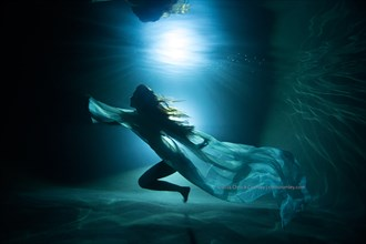 Underwater Dance Silhouette Lingerie Photo by Photographer anguschristopher