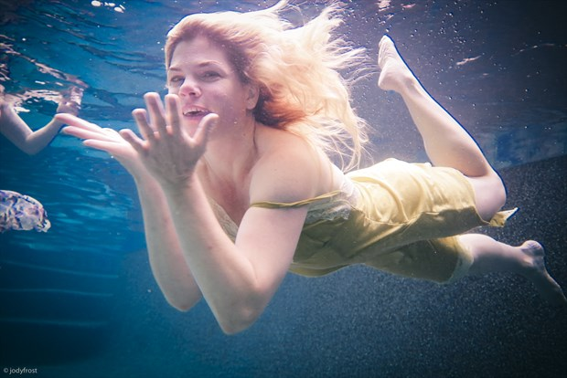 Underwater Nymph Sensual Photo by Photographer jody frost