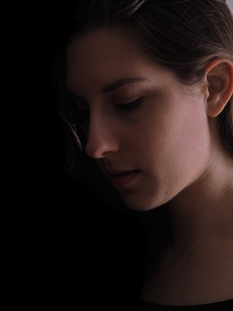 Untitled Portrait Chiaroscuro Photo by Model Aleja Na S%C3%ACtheige