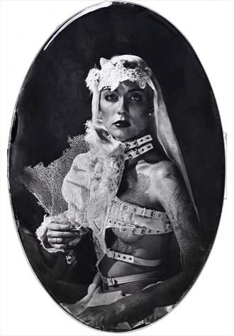Untitled ambrotype on oval glass Vintage Style Photo by Photographer Nalla Senrab