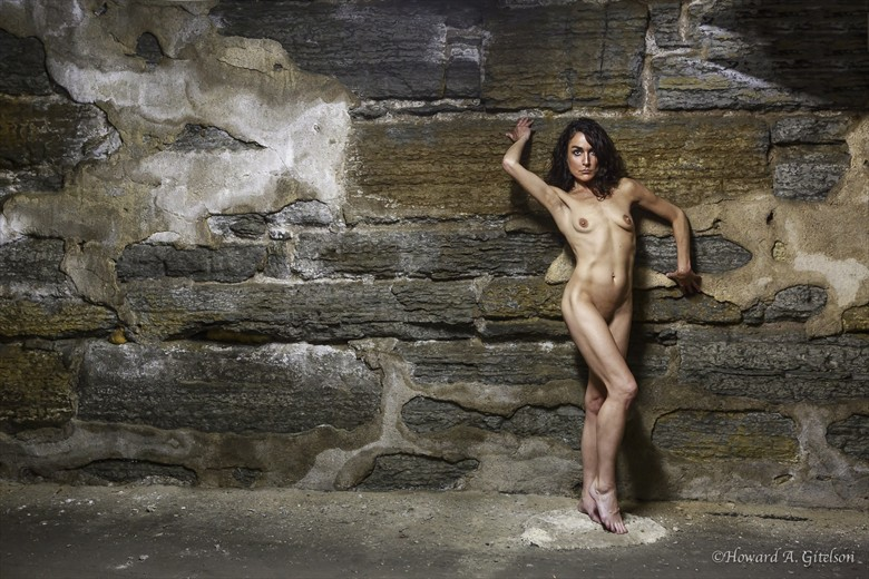 Up Against the Rock Wall Artistic Nude Photo by Photographer HGitel