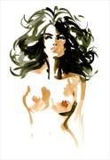 Ursula Artistic Nude Artwork by Artist Michel Canetti