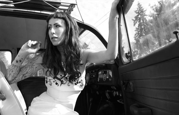 VW Bride Portrait Photo by Photographer Ken Harris Photo