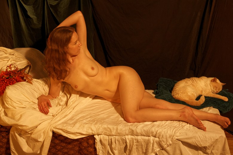 Venus and the Cat 2 Artistic Nude Photo by Photographer Fred Scholpp Photo
