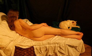Venus and the Cat Artistic Nude Photo by Photographer Fred Scholpp Photo