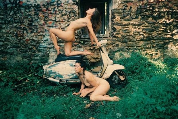 Vex, Katlyn, and my Lambretta Artistic Nude Photo by Photographer TheFabNears