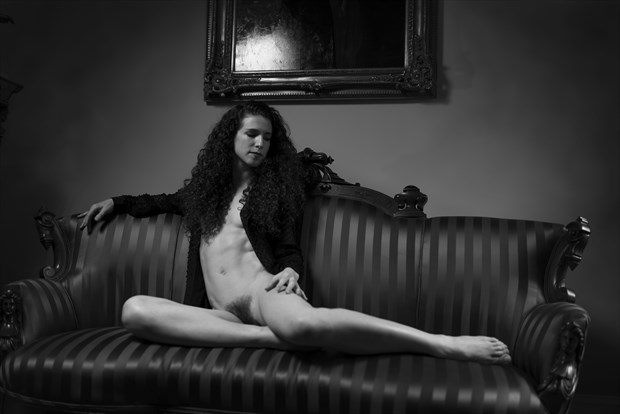 Victorian Romance, not for sitting.  Artistic Nude Photo by Photographer Jerry Jr
