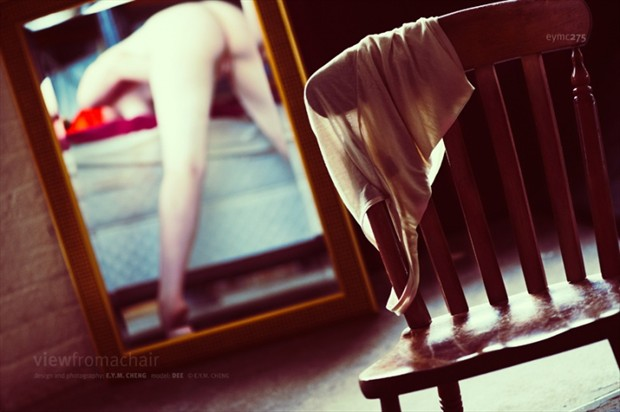 View from a chair Erotic Photo by Model Dee Frances