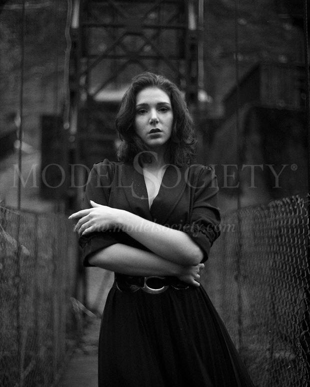 Vintage Style Chiaroscuro Photo by Model H%C3%A9rodiade