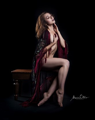 VintageSilk Artistic Nude Photo by Photographer Marie Otero