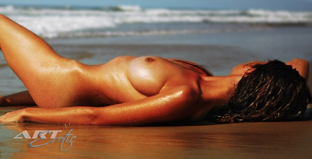 Violetta at the beach Artistic Nude Photo by Photographer ArtErotic