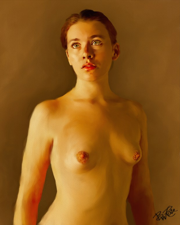 Voice Of An Angle Artistic Nude Artwork by Artist BWRgrafix