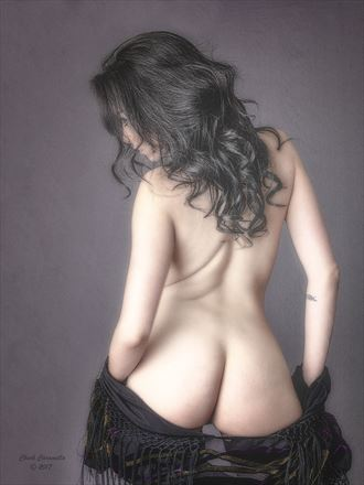 WAITING ... Artistic Nude Artwork by Artist NITROUS