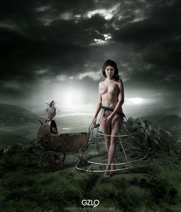 WALKING IN THE NIGHT Artistic Nude Photo by Artist GonZaLo Villar