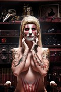 WASTED WARPAINT IN THE STOREHOUSE OF BROKEN MEMORIES AND REGRETS Surreal Photo by Artist Jeffery Scott (1019)