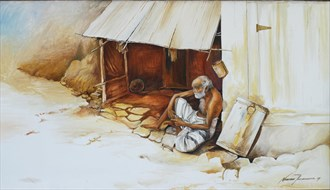 Waiting for a another day Painting or Drawing Artwork by Artist Nuwan Thenuwara