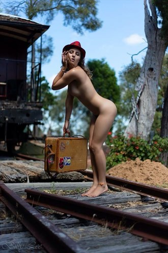 Waiting for the train Artistic Nude Photo by Model Jasmine