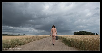 Walking on a lonely road Artistic Nude Photo by Photographer Marc Naesen