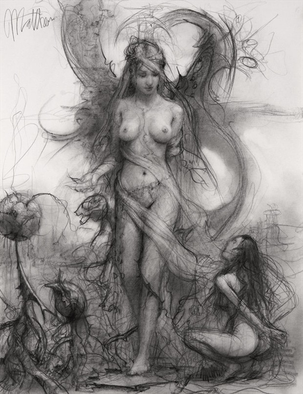 Wanted One Fantasy Artwork by Artist Matthew Joseph Peak