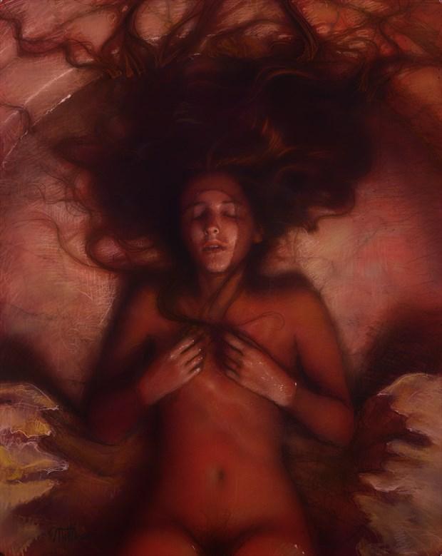 Warm Submersion Artistic Nude Artwork by Artist Matthew Joseph Peak