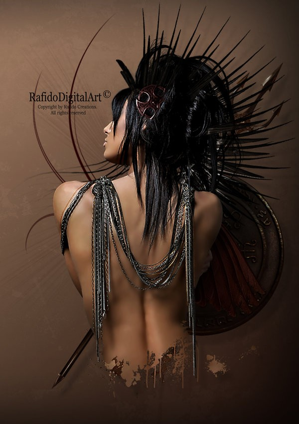 Warrior Photo Manipulation Photo by Artist RAFIDO