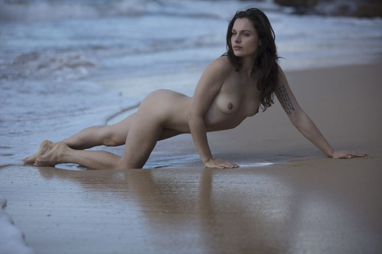Washaway Beach by Christopher Meredith Artistic Nude Photo by Model Sass Kia