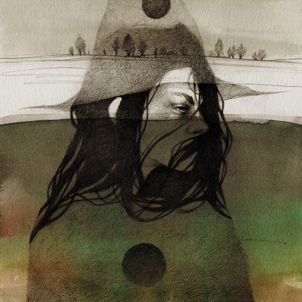 Watch witches Expressive Portrait Artwork by Artist Elia Fern%C3%A1ndez