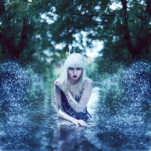 Water Fawn Nature Photo by Model Charlottte