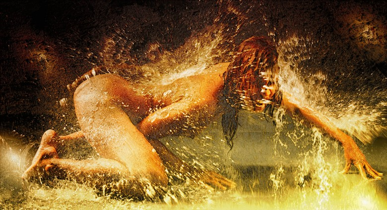 Water splash Artistic Nude Artwork by Photographer NUDE DREAMS
