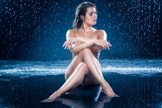 Wet Artistic Nude Photo by Model Diana