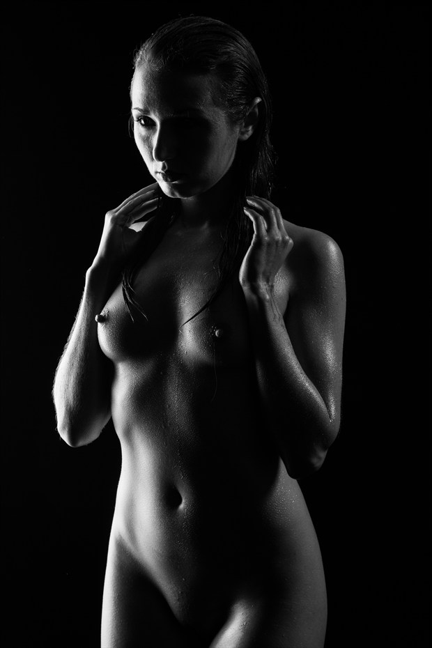 Wet Bodyscape Artistic Nude Photo by Photographer Stephen Wong