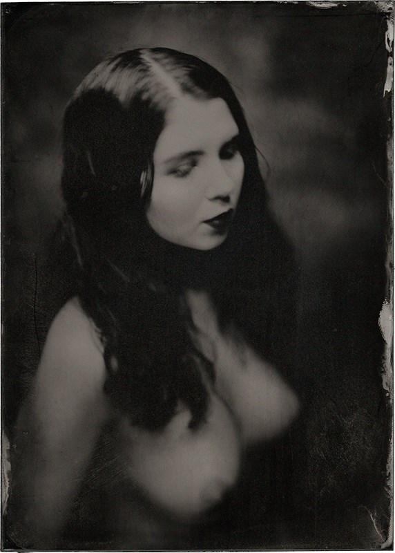 Wet plate by James Wigger, NYC 2016  Artistic Nude Photo by Model Johannsdottir